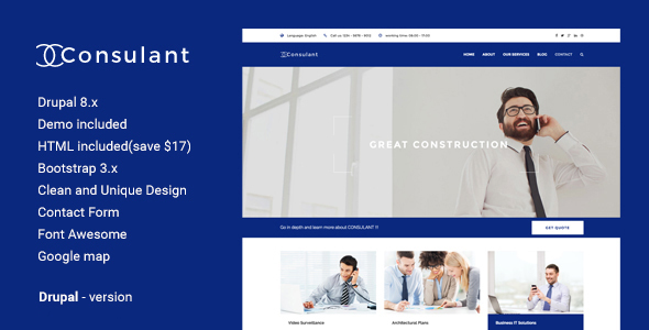 Consulant - Corporate & Business Drupal Theme            TFx