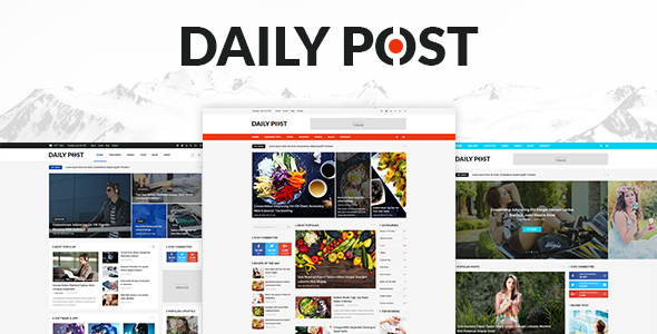 DailyPost - Multi-Purpose Magazine PSD Template            TFx