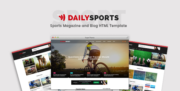 DailySports - Sports Magazine and Blog HTML Template            TFx