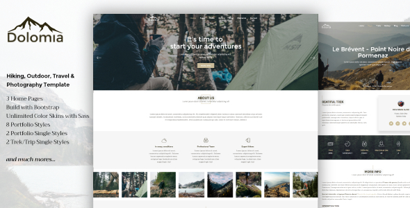Dolomia - Hiking, Outdoor, Mountain Guide HTML Template            TFx