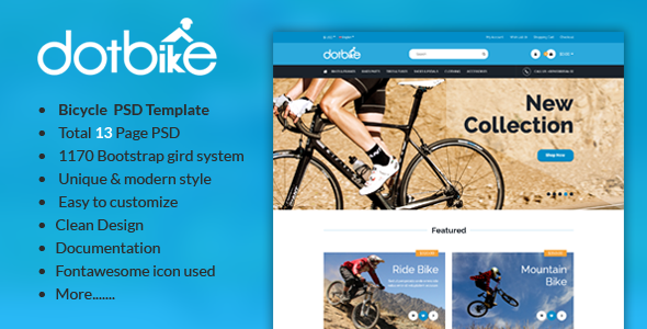 DotBike - Bicycle E-commerce PSD Template            TFx