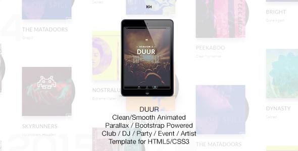 Duur - Music Band Musicians & DJ's HTML Template            TFx