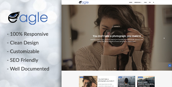 Eagle - Responsive Magazine Blogger Template            TFx