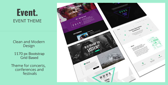 Event – Creative and Modern One Page HTML Template for Events            TFx