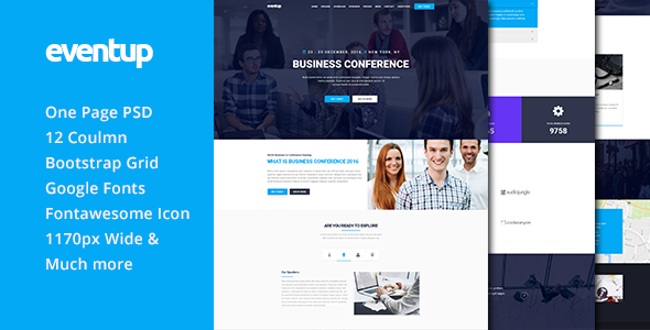 Eventup One Page Conference PSD Template            TFx