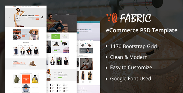 Fabric e-Commerce PSD Template            TFx