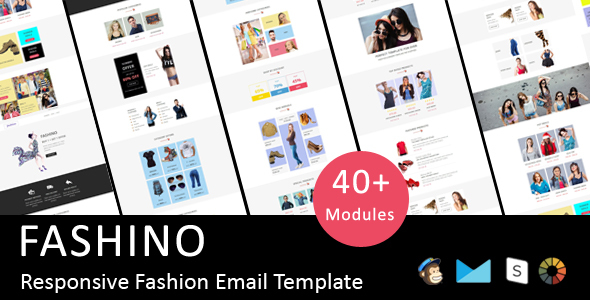 Fashino - Responsive Email Template + Stampready Online Builder Access            TFx