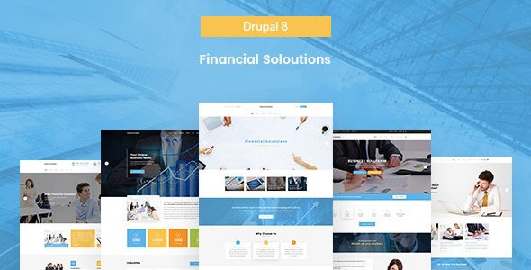 Financial Solutions - Financial & Business Drupal 8 Template            TFx