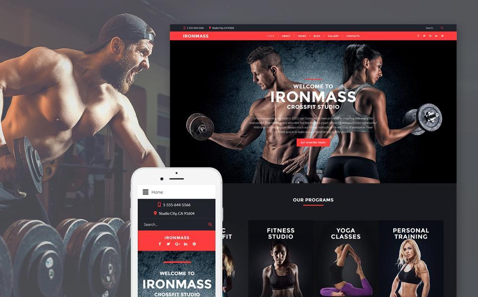 Fitness Responsive Joomla Template TMT
