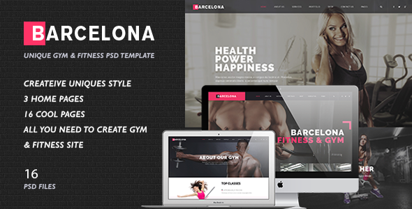 Fitness & Healthy Center PSD Template - Barcelona            TFx