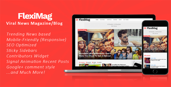 FlexiMag - Viral Blogger News Magazine / Blog Theme            TFx
