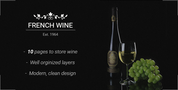 French Wine — PSD Store Template            TFx