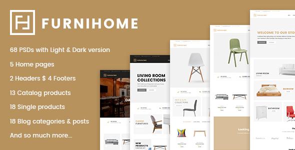 Furnihome - E-Commerce PSD Template for Furniture Store            TFx