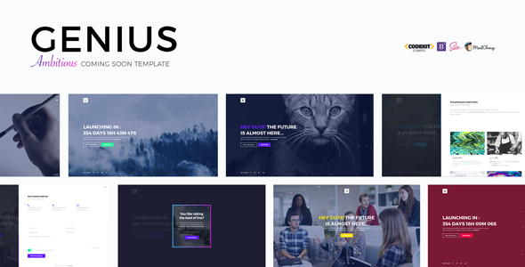 GENIUS - Ambitious Coming Soon Template            TFx