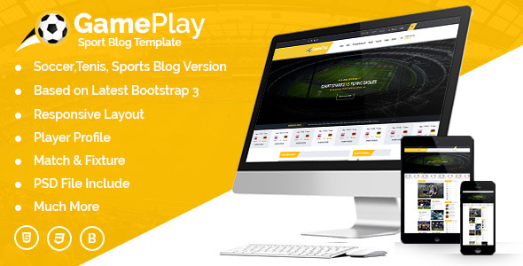 Gameplay Sports Club Blog And Magazine HTML Template            TFx