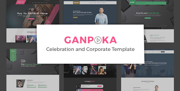 Ganpoka - Celebration and Corporate PSD Template            TFx