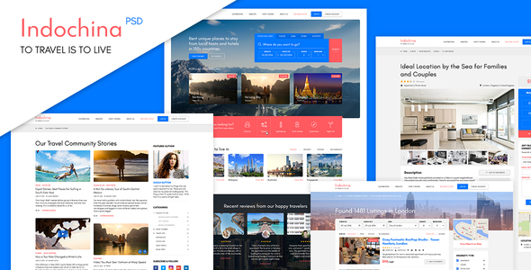 Indochina Travel PSD Template            TFx