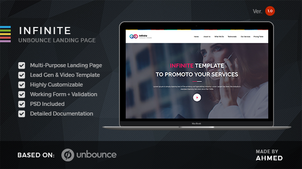 Infinite - Marketing Unbounce Template            TFx