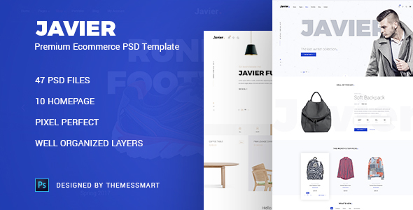 Javier - Premium E-Commcerce PSD Templates            TFx