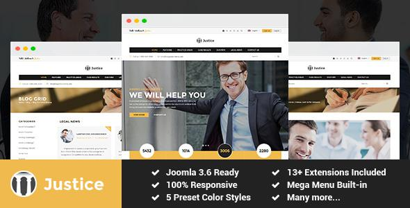 Justice - Attorney and Law Firm Joomla Template            TFx