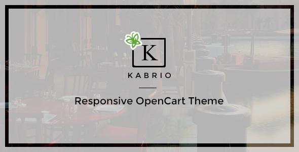 Kabrio - Responsive OpenCart Theme            TFx