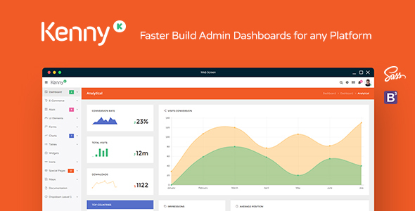 Kenny – Dashboard / Admin Site Responsive Template            TFx