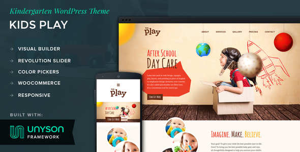 Kids Play - Kindergarten WordPress Theme            TFx