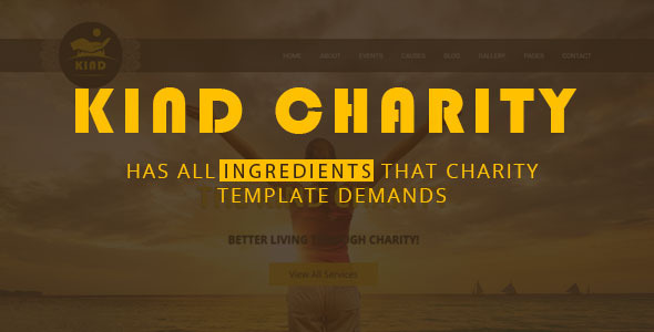 Kind Charity HTML Template for Mosque, Church and NGO Charity            TFx