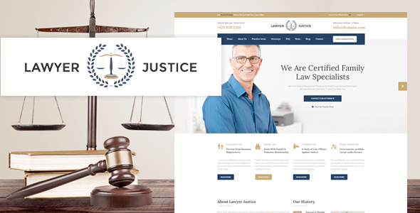 Lawyer Justice - Law Firm Joomla Template            TFx