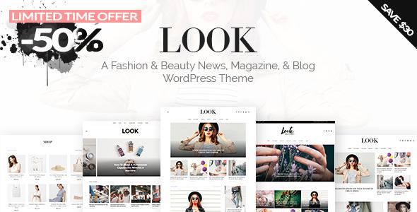 Look: A Fashion & Beauty News, Magazine, & Blog WordPress Theme            TFx