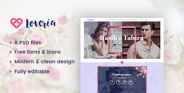 Loveria | Wedding PSD Template            TFx