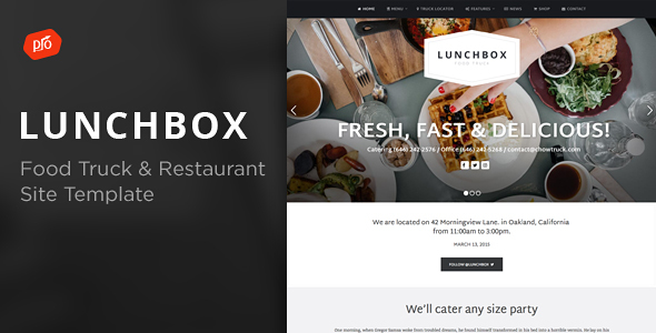 Lunchbox - Food Truck & Restaurant Site Template            TFx