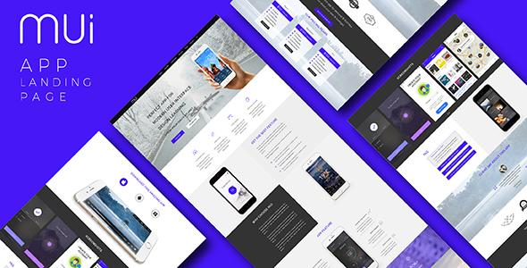 MUI - App Landing Page (PSD)            TFx