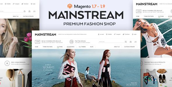 Mainstream - Responsive Magento Theme            TFx
