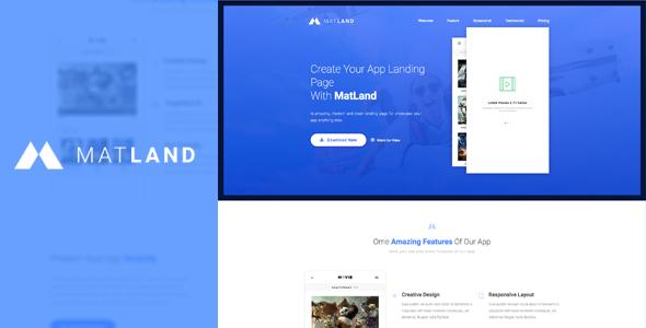 MatLand - WordPress App Landing Page            TFx
