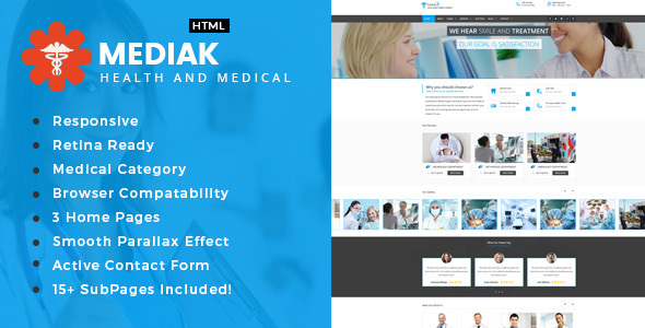 Medik - Health And Medical HTML Template            TFx