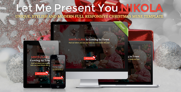 NIKOLA - Christmas Full Responsive Muse Template            TFx