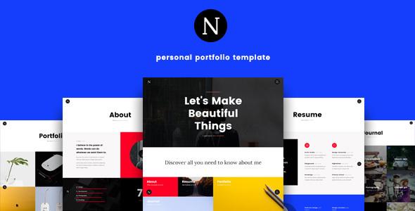 Neme - Ultimate Personal Portfolio Template            TFx