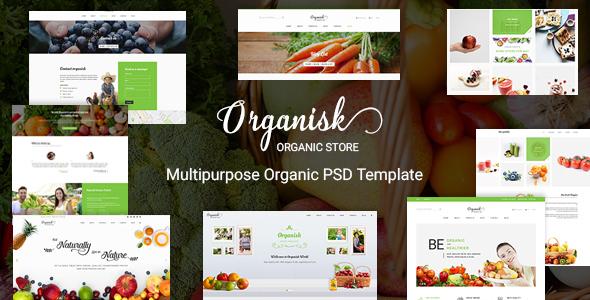 Organisk - Multi-Purpose Organic PSD Template            TFx
