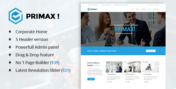 PRIMAX! Responsive Multi-purpose Joomla Template            TFx