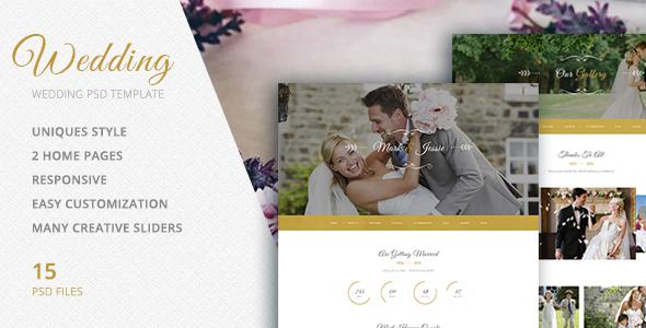 PSD Template for Wedding Events, Organizer, Photo Sessions            TFx
