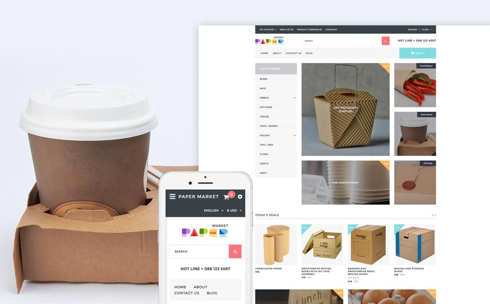 Packaging Responsive OpenCart Template TMT