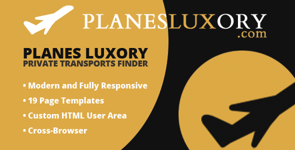 Planes Luxory - Private Transport Finder            TFx