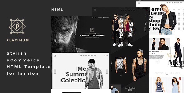Platinum - Stylish eCommerce HTML Template for Fashion            TFx