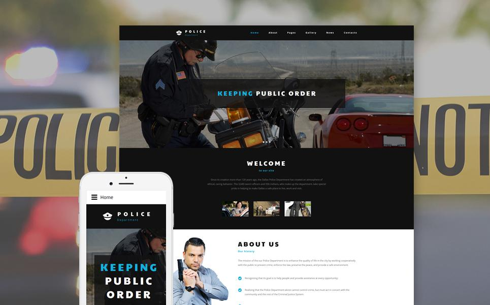 Police Department Joomla Template TMT