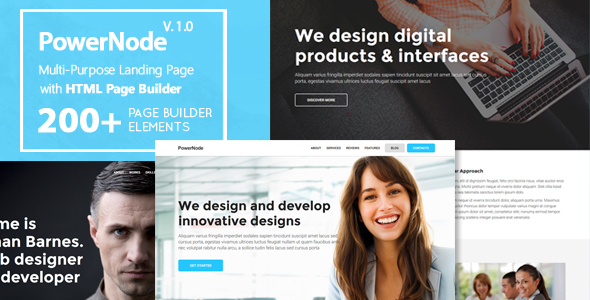 PowerNode - Multi-Purpose Landing Page With Page Builder            TFx