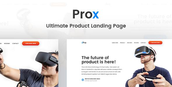 Prox - Ultimate Product Landing Page            TFx