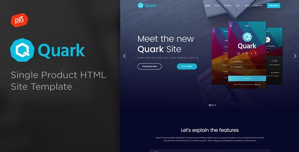 Quark - Single Product Site Template            TFx