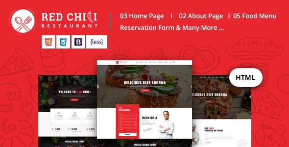 Red Chili - Restaurant HTML5 Template            TFx