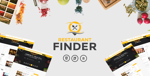 Restaurant Finder Takeaway or Delivery Food Template            TFx